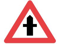 A11, advarselstavle 70 cm, Farligt vejkryds